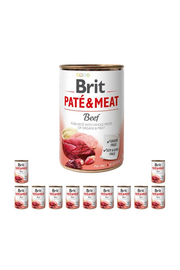Pakiet Brit Pate & Meat Beef Wołowina 12 x 400 g