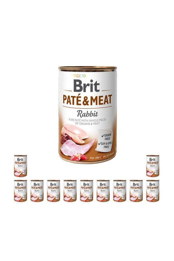 Pakiet Brit Pate & Meat Rabbit Królik 12 x 400 g
