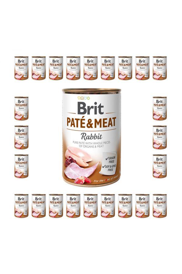 Pakiet Brit Pate & Meat Rabbit Królik 24 x 400 g