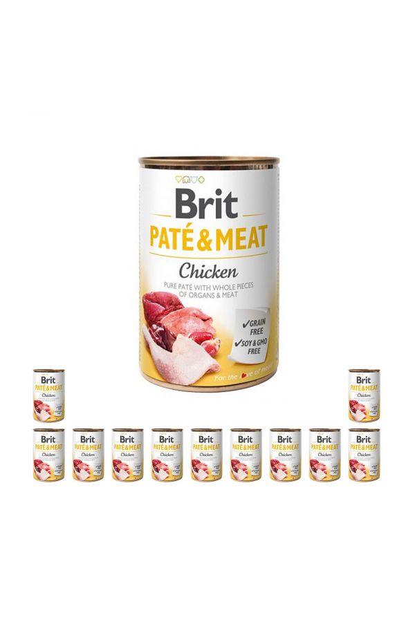 Pakiet Brit Pate & Meat Chicken Kurczak 12 x 400 g
