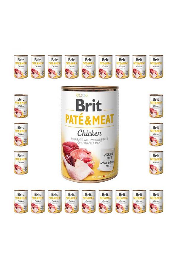 Pakiet Brit Pate & Meat Chicken Kurczak 24 x 400 g