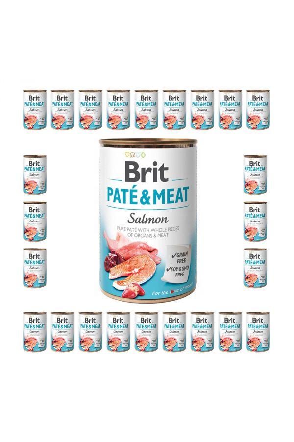 Pakiet Brit Pate & Meat Salmon Łosoś 24 x 400 g