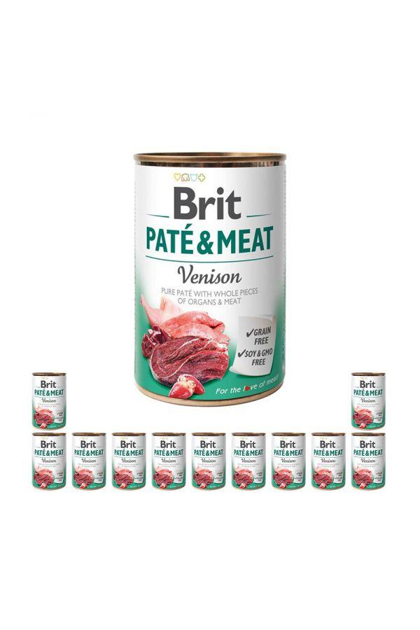 Pakiet Brit Pate & Meat Venison Dziczyzna 12 x 400 g