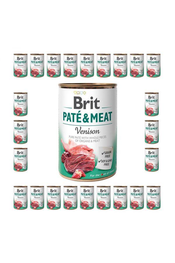 Pakiet Brit Pate & Meat Venison Dziczyzna 24 x 400 g