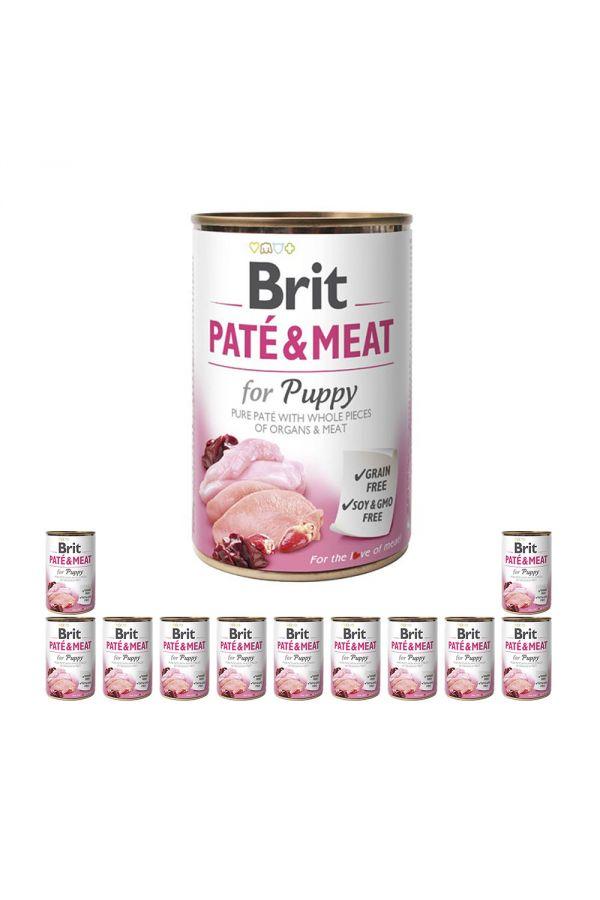 Pakiet Brit Pate & Meat for Puppy Szczenięta 12 x 400 g