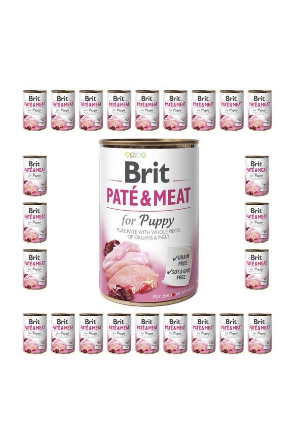 Pakiet Brit Pate & Meat for Puppy Szczenięta 24 x 400 g