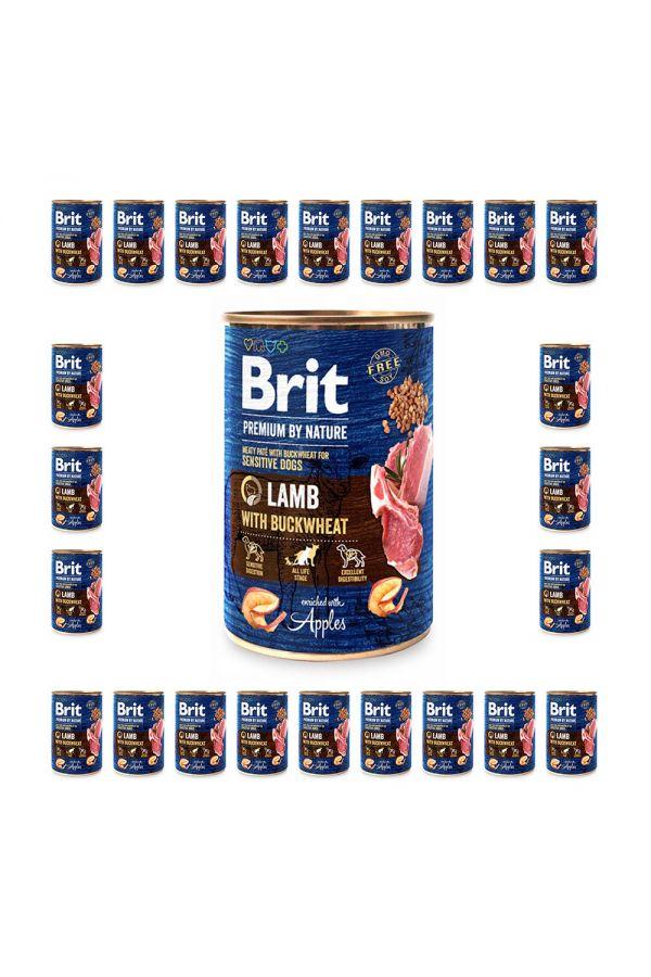 Pakiet Brit Premium By Nature Lamb with Buckwheat Jagnięcina Gryka 24 x 400 g