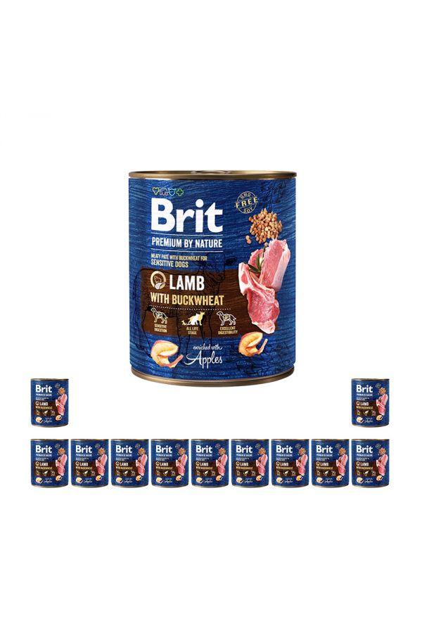 Pakiet Brit Premium By Nature Lamb with Buckwheat Jagnięcina Gryka 12 x 800 g