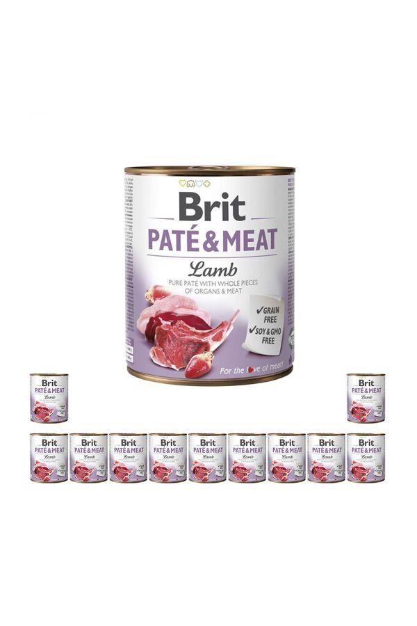 Pakiet Brit Pate & Meat Lamb Jagnięcina 12 x 800 g