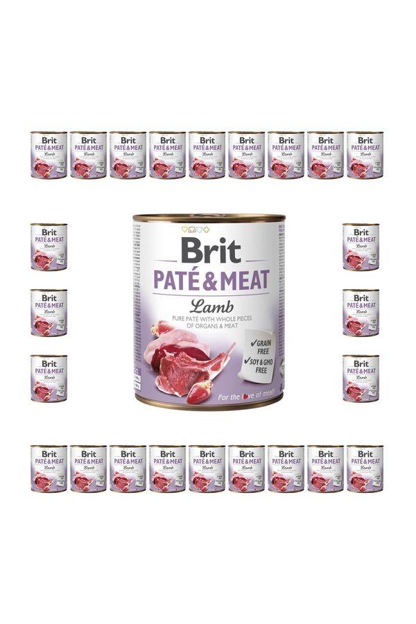 Pakiet Brit Pate & Meat Lamb Jagnięcina 24 x 800 g