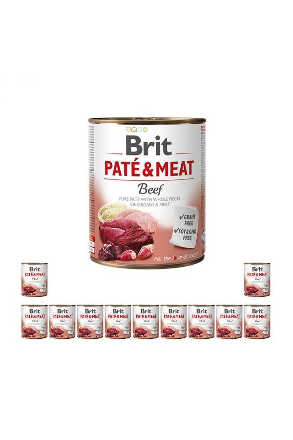 Pakiet Brit Pate & Meat Beef Wołowina 12 x 800 g