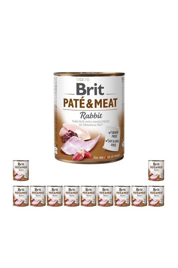 Pakiet Brit Pate & Meat Rabbit Królik 12 x 800 g