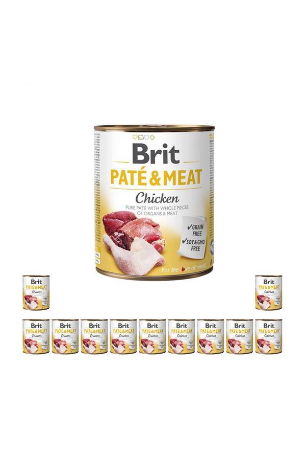 Pakiet Brit Pate & Meat Chicken Kurczak 12 x 800 g
