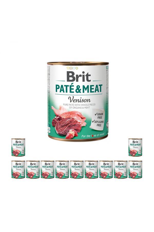 Pakiet Brit Pate & Meat Venison Dziczyzna 12 x 800 g
