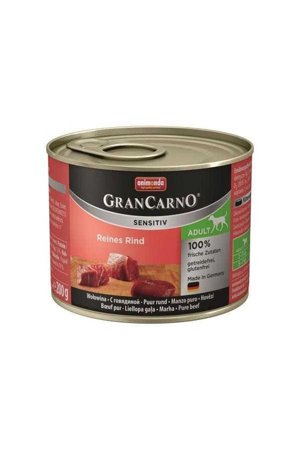 Animonda GranCarno Sensitiv Wołowina Psy Wrażliwe Adult  200 g