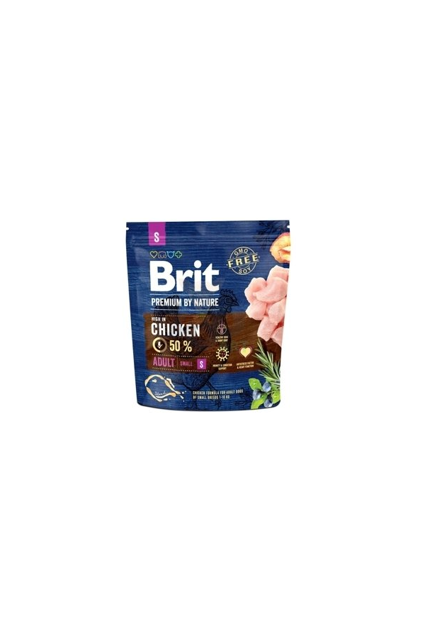 Brit Premium By Nature Chicken Kurczak Adult S 1 kg