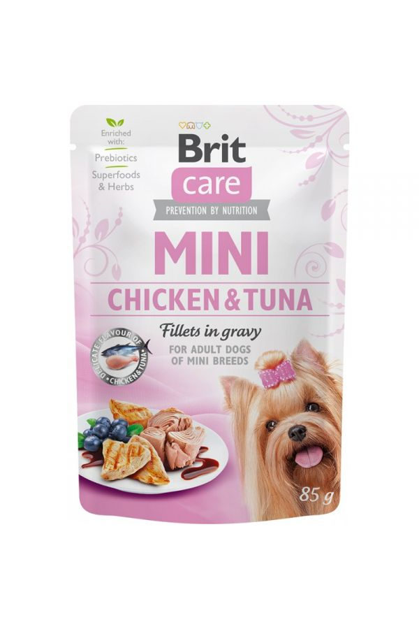 Brit Care Adult Mini Chicken & Tuna Fillets in Gravy Kurczak z Tuńczykiem w Sosie 85 g