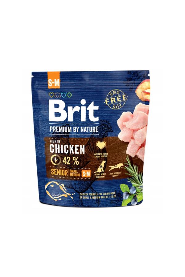 Brit Premium By Nature Chicken Kurczak Senior S+M 1 kg