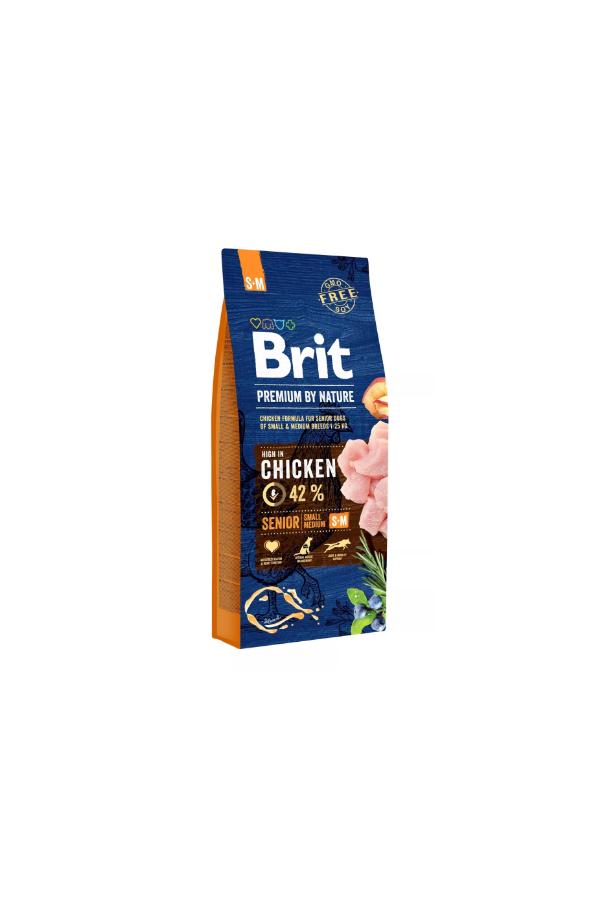 Brit Premium By Nature Chicken Kurczak Senior S+M 15 kg