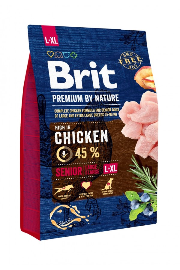 Brit Premium By Nature Chicken Kurczak Senior L + XL 3 kg