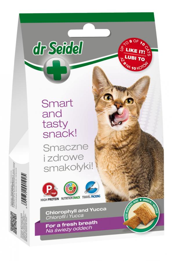 Smakołyki dr seidla dla kotów świeży oddech 50 g