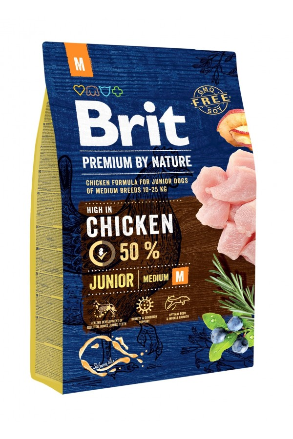 Brit premium by nature junior m chicken 1 kg
