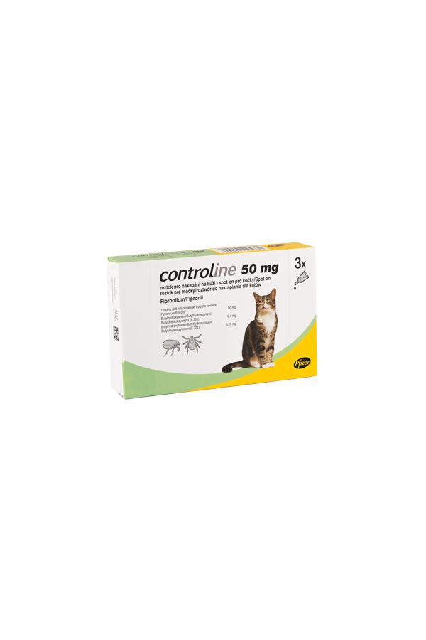 Controline 50 mg Kot 3 Pipety