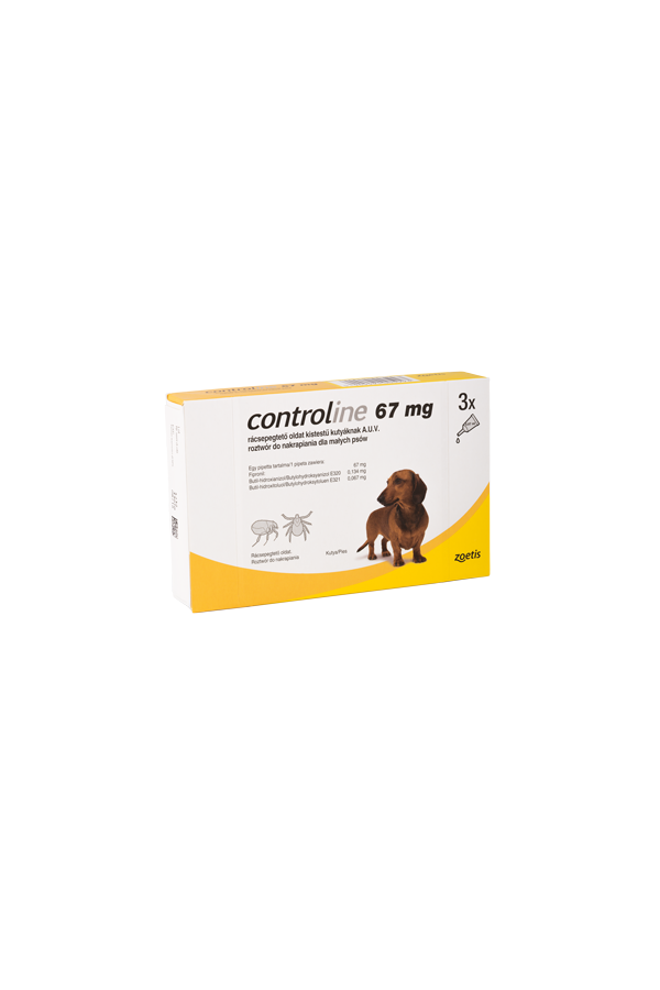 Controline 3 x  67 mg małe psy 3 pipety