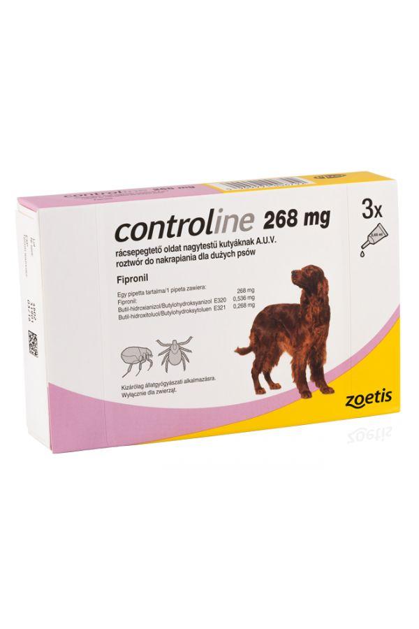 Controline 268 mg Duże Psy 3 Pipety
