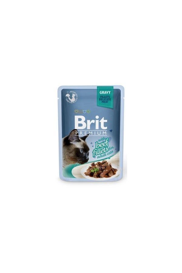 Brit Premium Beef Gravy Fillets Wołowina 85 g