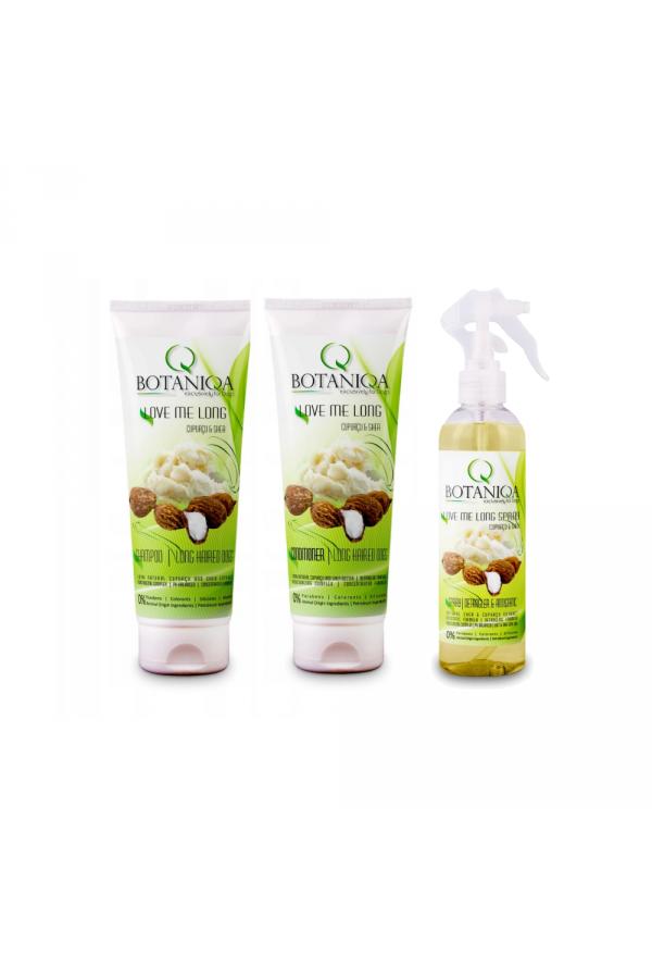 Pakiet Botaniqa Love Me Long Szampon 250 ml+ Odżywka 250ml + Spray 250 ml