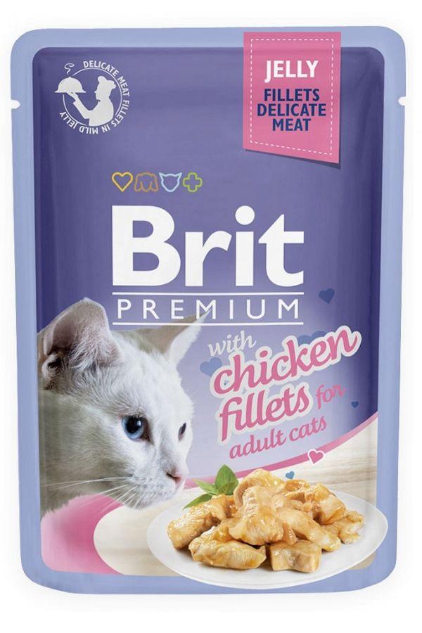 Brit Premium Chicken Jelly Fillets Kurczak Galaretka 85 g