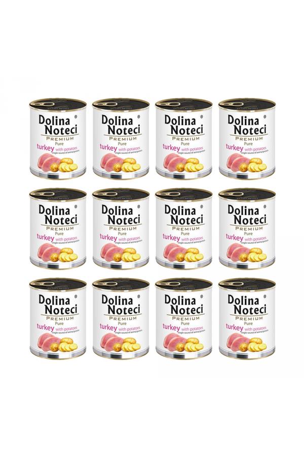 Pakiet Dolina Noteci Premium Pure Indyk z Ziemniakami 12 x 800 g
