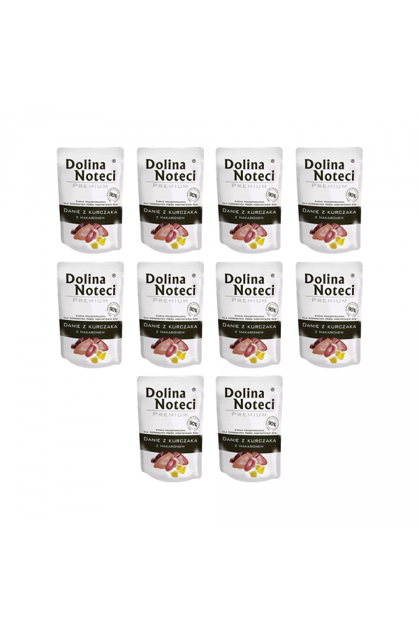 Pakiet Dolina Noteci Premium Danie z Kurczaka z Makaronem Małe Rasy 10 x 100 g