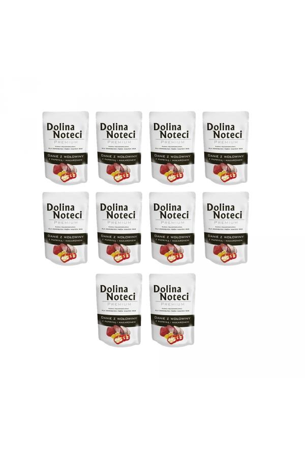 Pakiet Dolina Noteci Premium Danie z Wołowiny z Papryką i Makaronem Małe Rasy 10 x 100 g