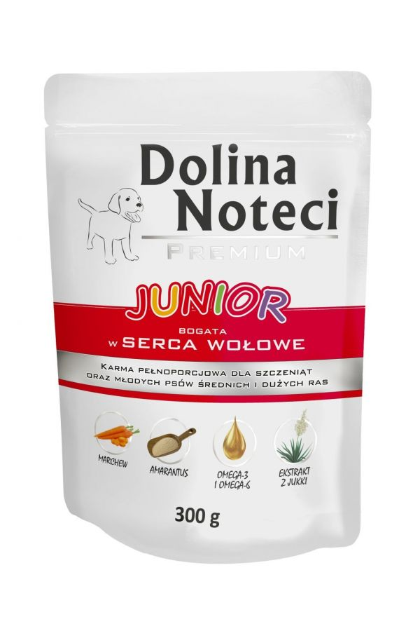 Dolina Noteci Premium Serca Wołowe Junior 300 g