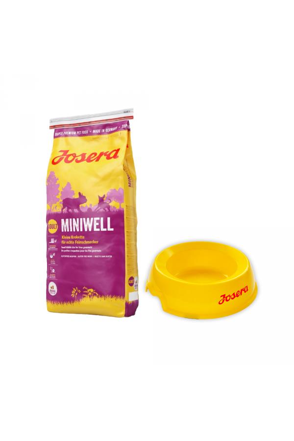 Pakiet Josera MiniWell Małe Rasy 15 kg + Miska dla Psa GRATIS!