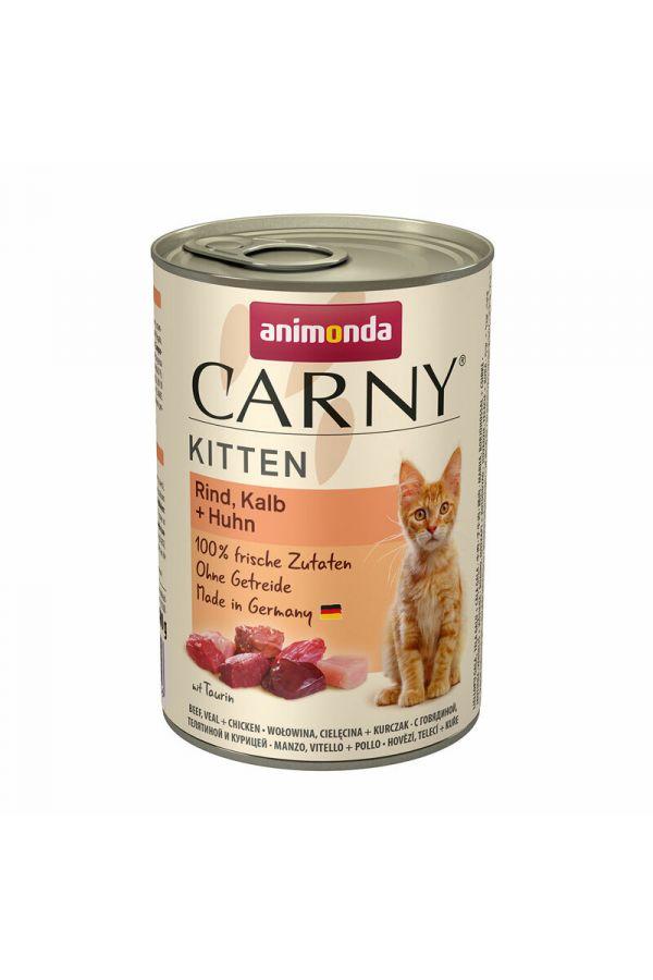 Animonda Carny Wołowina, Cielęcina, Kurczak Kitten 400 g