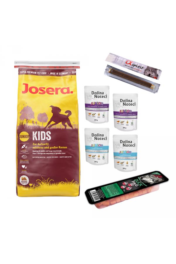 Pakiet Josera Kids Junior Średnie i Duże Rasy 15 kg + 7 GRATISÓW!