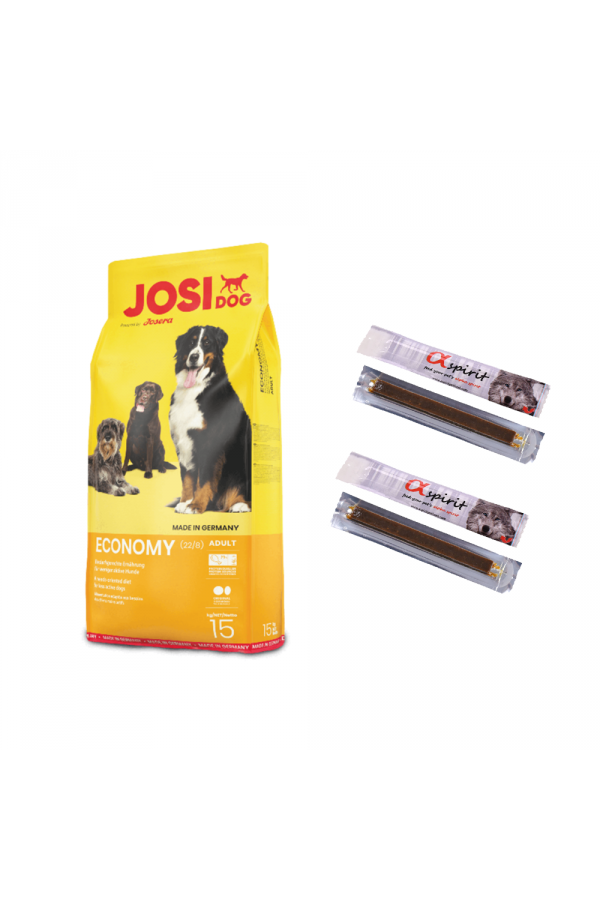 Pakiet Josera Josidog Economy 22/8 15 kg + 4 przysmaki GRATIS