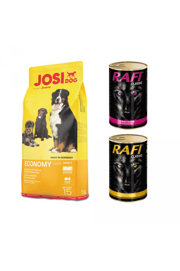 Pakiet Josera JosiDog Economy 15 kg + GRATISY