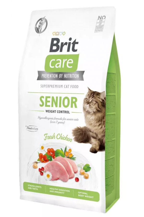 BRIT Care Grain Free Senior&Weight Control z Kurczakiem 2 kg