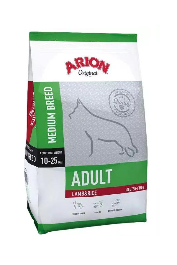 Arion Original Lamb & Rice Jagnięcina Ryż Medium Adult 12 kg + 1 kg
