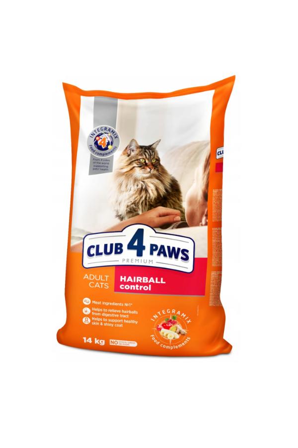 Club 4 Paws Hairball Control Usuwanie Kul Włosowych 14 kg