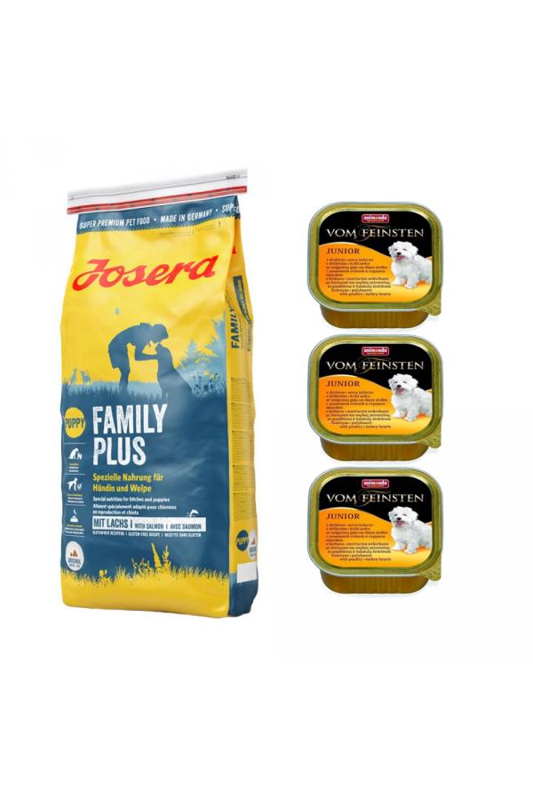 Pakiet Josera Family Plus 15 KG + 3 GRATISY od Animondy
