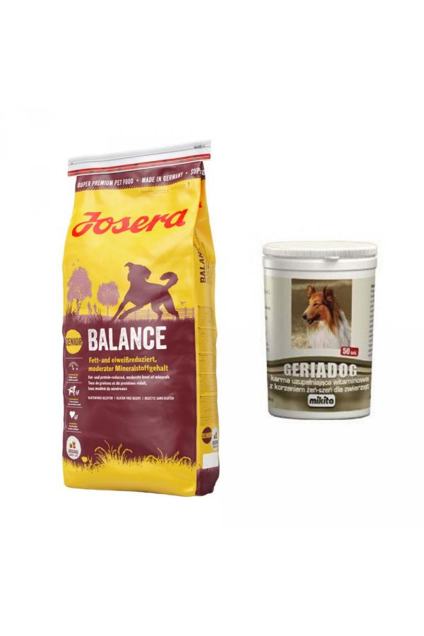 Pakiet Josera Balance 15 KG + Mikita Geriadog 50 tab GRATIS!