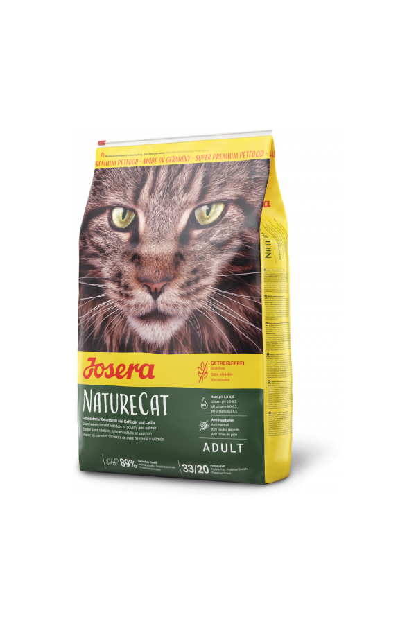 Josera NatureCat Bezzbożowa Dorosłe Koty 10 kg