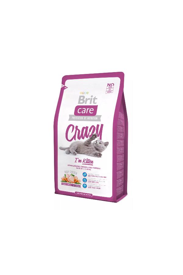 Brit Care Crazy Im Kitten Kurczak Ryż 2 kg