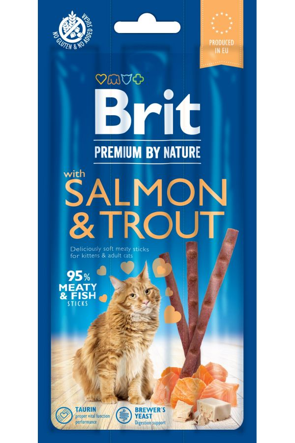 Brit Premium by Nature Cat Sticks with Salmon & Trout Łosoś Pstrąg 15 g