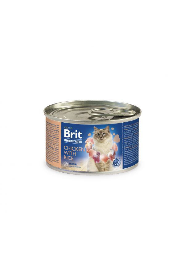 Brit Premium by Nature Cat Chicken with Rice Kurczak Ryż 200 g